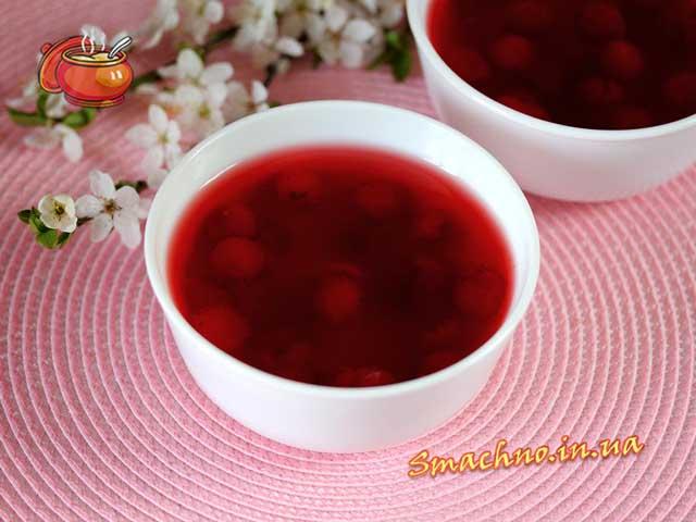 рецепт густого киселя из вишни