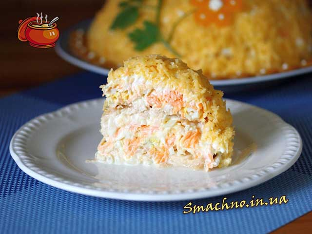Рецепт салата яблоко морковь яйцо сыр