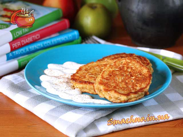рецепт из овсянки и яблок оладьи