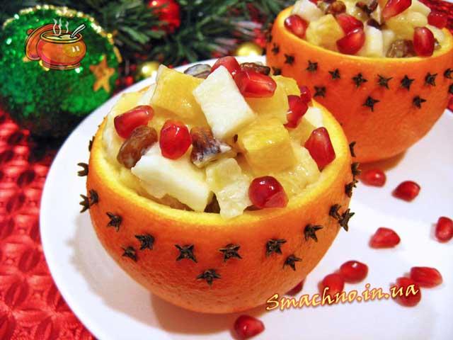 Фруктово-йогуртовий десерт в апельсинах