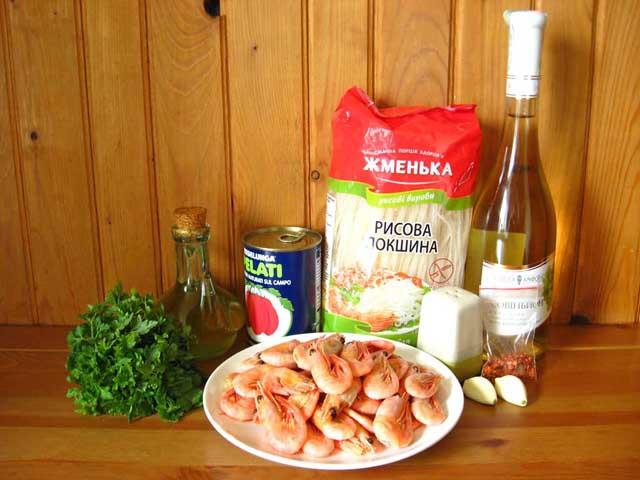 лапша с креветками рецепт