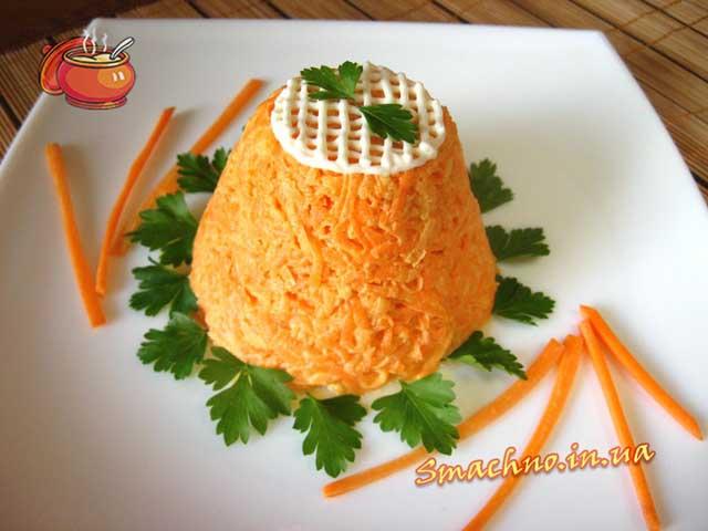 Салат с морковью и чесноком с майонезом калорийность