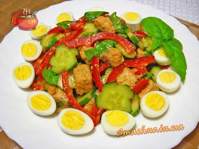 салат з сьомги рецепт з фото