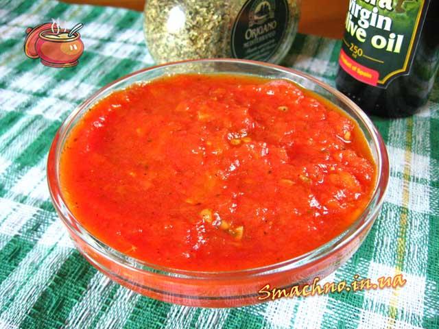 Томатный соус для пиццы. Рецепт приготовления.