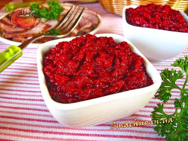 салат из свеклы с хреном рецепт