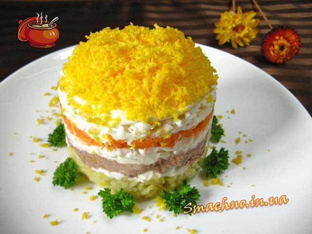 приготовление мимоза салат