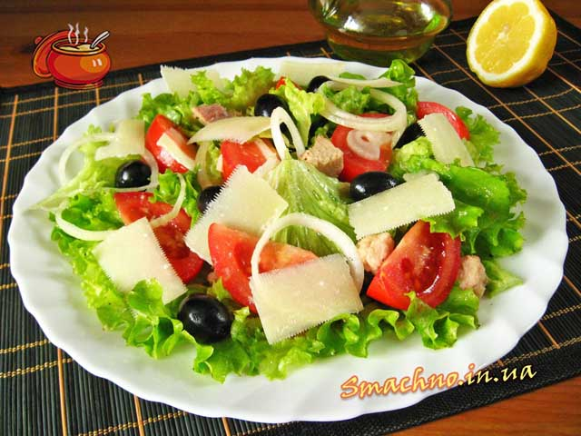 салат з тунця рецепти